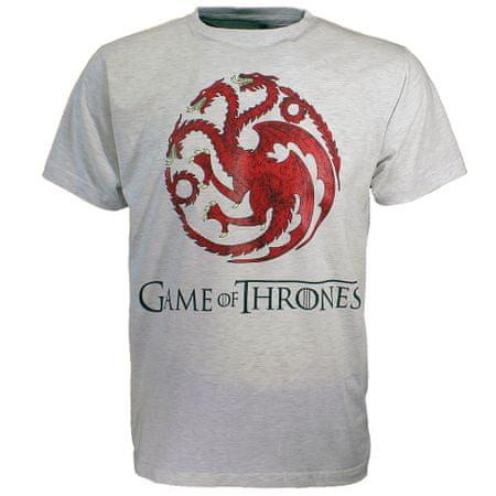 "SETINO Moška majica s kratkimi rokavi ""Game of Thrones"" - svetlosiva - S"