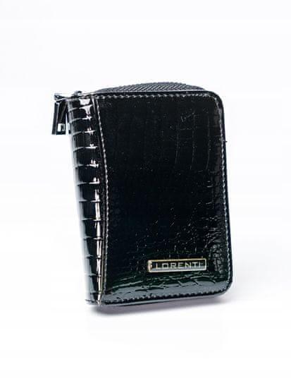 Lorenti Malá lesklá černá kožená peněženka Nea