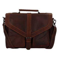 Green Wood Desingová pánská kožená taška Didier Green Wood, tmavě hnědá
