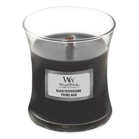 Woodwick Gyertya ovális váza , Fekete bors, 85 g