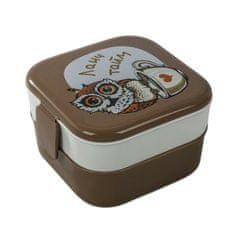 """IDEA Obědová krabička """"sovy"""", 2 přihrádky 400 ml"""