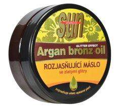 SUN Vital Rozjasňující máslo po opalování s BIO arganovým olejem a zlatými glitry SUN VIVACO 200 ml