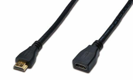 Digitus mrežni HDMI podaljšek, FHD, 2 m, črn