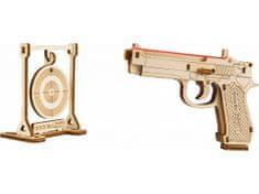 Wooden city Pištoľ Beretta 9 na gumičku - 3D mechanická skladačka