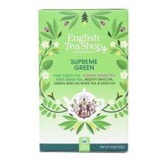 English Tea Shop MIX vrcholne zelených čajov, BIO 20 vrecúšok