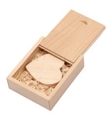 CTRL+C Pendrive drewniany SERCE + pudelko KLON