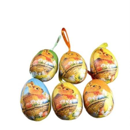 """Kraftika Wielkanoc wystrój zawieszenie """"bunny w koszu z stokrotki"""""""