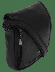 4U Cavaldi Koženková pánská taška crossbody Ervin, černá,