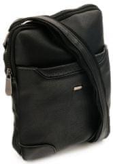 4U Cavaldi Pánská koženková crossbody taška Tom, černá, SKLADEM 6KS
