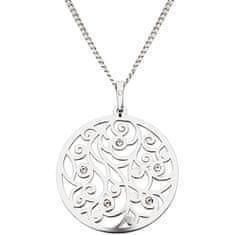 Praqia Csillogó ezüst nyaklánc kristályokkal KO1708M_CU040_45_RH (lánc, medál) ezüst 925/1000