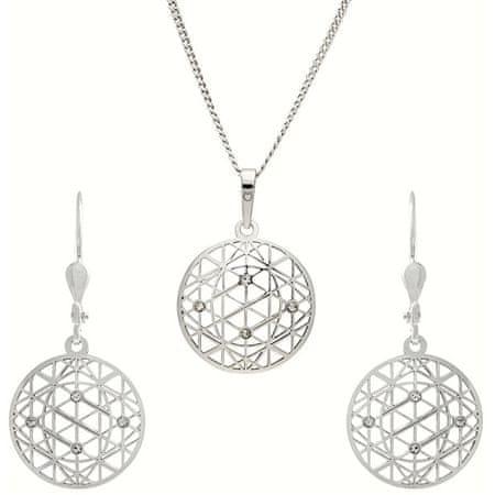 Praqia Titokzatos ékszer szett KO1594_NA0945 (nyaklánc, medál, fülbevaló) ezüst 925/1000