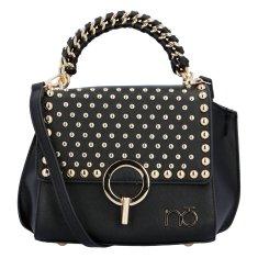 Nobo Extravagantná dámska koženková kabelka NOBO Cecil, čierna