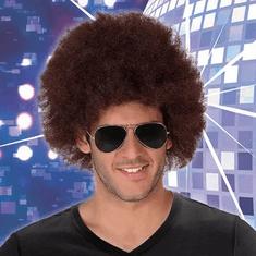 Kudrnaté vlasy paruka Afro Hnědá 113770