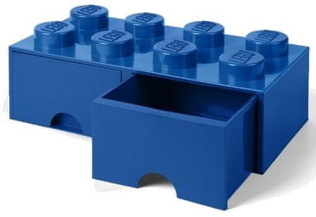 LEGO Tároló doboz 8 fiókkal, kék