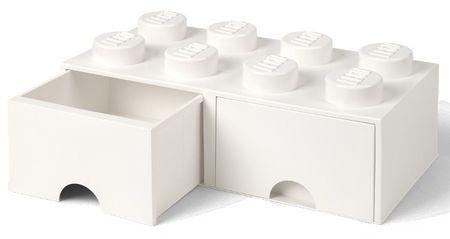 LEGO Tároló doboz 8 fiókkal, fehér