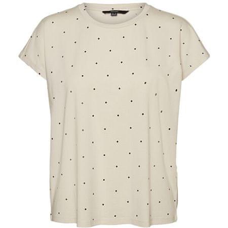Vero Moda Női póló VMMARLIEAVA 10241417 Birch MARLIE DOT (Méret S)