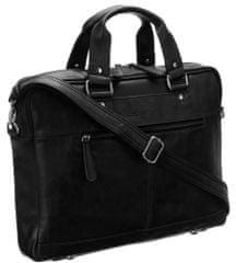 Rovicky Dámska kožená taška Business woman, čierna