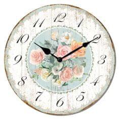 Isabelle Rose Dřevěné nástěnné hodiny Pastel Life 29 cm