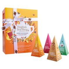 English Tea Shop Darčeková kolekcia SUPER GOODNESS, 12 pyramídiek sypaných čajov