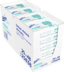 LINTEO Nedves törlőkendő Baby AQUA Sensitive, 20x48 db