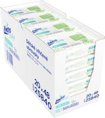 LINTEO Nedves törlőkendő Baby 100% BIODEGRADABLE, 20x48 db