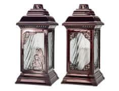 Ceramicus Lampa hřbitovní skleněná KAPLE III 18 x 37 cm 250 g mix barev