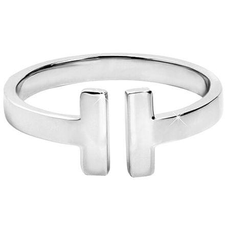 Troli Nyitott acél női gyűrű (Kerület 57 mm)