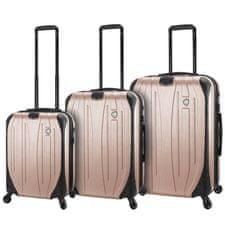 Mia Toro Sada cestovních kufrů MIA TORO M1525/3 - champagne