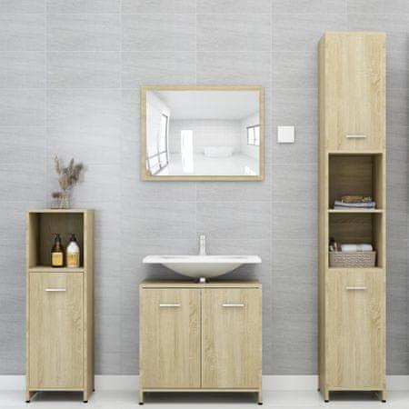 shumee 4-częściowy zestaw mebli łazienkowych, dąb sonoma, płyta