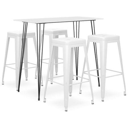 shumee 5-częściowy zestaw mebli barowych, biały