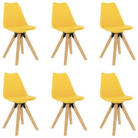 shumee 6 db sárga étkezőszék