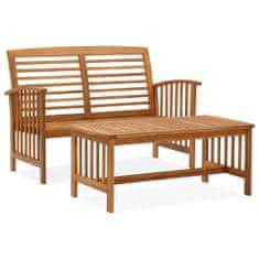 Petromila 2dílná zahradní sedací souprava masivní akáciové dřevo