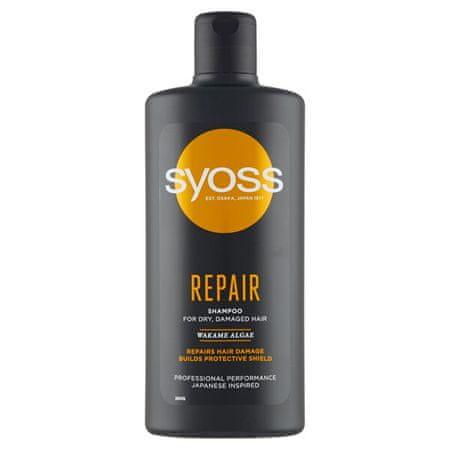 Syoss Herbal Essences Repair (Shampoo) regeneráló sampon a száraz és sérült hajra (Mennyiség 440 ml)