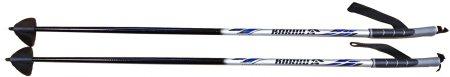 Karhu Faran Junior palice za smučarski tek, 80 cm, črno-srebrne,
