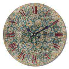 Isabelle Rose Dřevěné nástěnné hodiny Britain Lace 29 cm