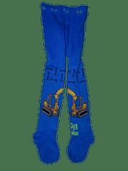 KUGO Chlapecké modré punčocháče s bagrem digger at work.