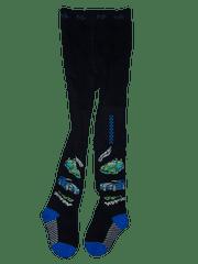 KUGO Chlapecké tmavě modré punčocháče se závodníma autama.
