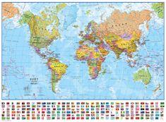 Excart Svět - nástěnná politická mapa 136 x 100 cm (česky)