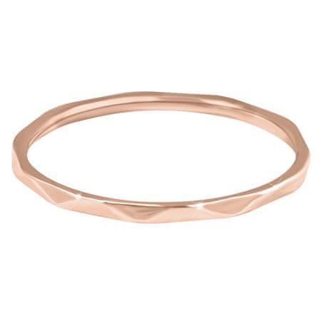 Troli Minimalista aranyozott gyengéd kivitelezésű gyűrű RoseGold (Kerület 57 mm)