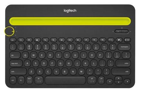 Logitech K480 brezžična Multi-Device tipkovnica, črna