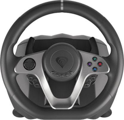 Kierownica gamingowa Genesis Seaborg 400 (NGK-1567) PC PS4 Xbox one stalowe elementy sterujące