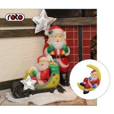 Roto figura Djed Mraz , XXS, sa svjetlom