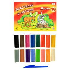 """Gamma 2 sady, plastelíny 16 barev 320 g, """"gama''karikatury"""""""