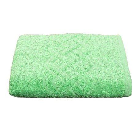 Kraftika Ręcznik frotte pleit 50x90 cm, kolor zielony