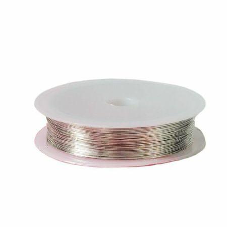 Kraftika Drót gyöngy szövés d = 0,4 mm, hossza 30 m, ezüst színű