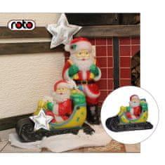 Roto figura Djed Mraz , M, sa svjetlom