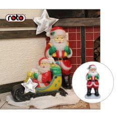 Roto figura Djed Mraz , L, sa svjetlom