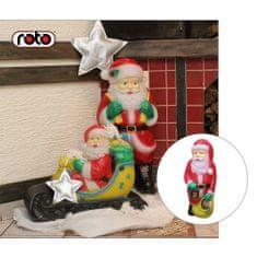 Roto figura Djed Mraz , XL, sa svjetlom