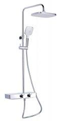 Optima OPTIMA SAT sprchový systém s termostatickou baterií a poličkou, hranatý SATSSTHP - Optima