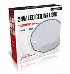 Asalite stropno LED svjetlo - Star, dijamant, 24 W, 4000 K, 1800 lm